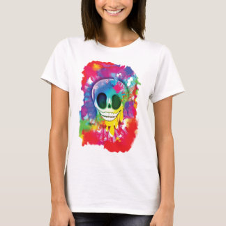 Psychedelic Skull Design T-Shirt