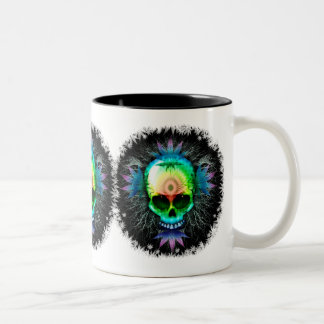Psychedelic Skull Explosion mugs
