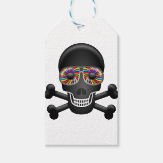psychedelic skull gift tags