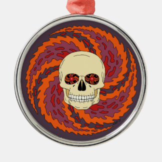 Psychedelic Skull Metal Ornament