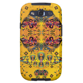 Psychedelic Skull Water Color Samsung Galaxy S3 Cover