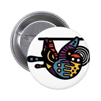 Psychedelic Sloth 2 Inch Round Button