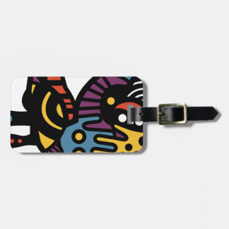 Psychedelic Sloth Luggage Tag