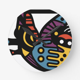 Psychedelic Sloth Round Clock