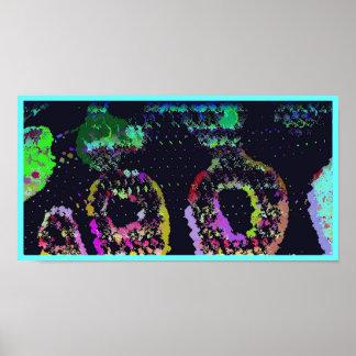 Psychedelic Snake Skin Pop Art Poster