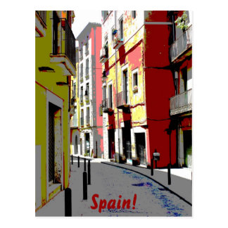 psychedelic Spain street photography Postcard