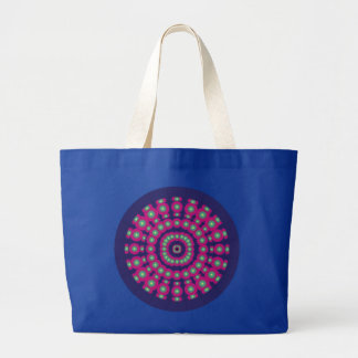 Psychedelic Spheres Dartboard Large Tote Bag