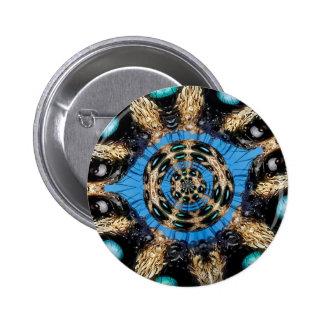 Psychedelic Spider Portal 2 Inch Round Button