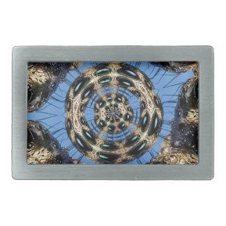 Psychedelic Spider Portal Belt Buckles