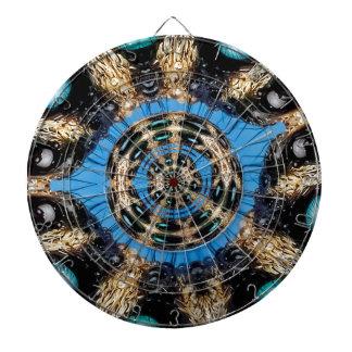 Psychedelic Spider Portal Dartboard With Darts