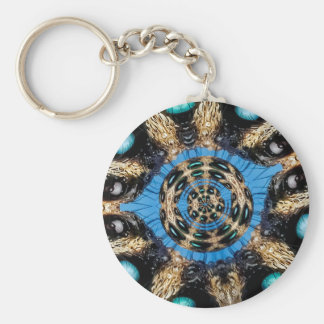 Psychedelic Spider Portal Keychain