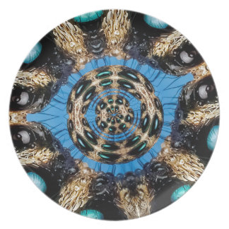 Psychedelic Spider Portal Party Plate