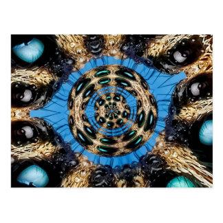 Psychedelic Spider Portal Postcard