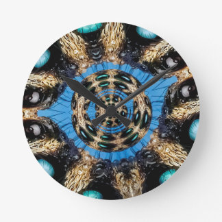 Psychedelic Spider Portal Round Clock