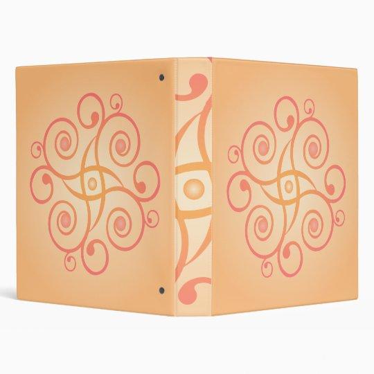 Psychedelic Spiral Design: Custom Binder