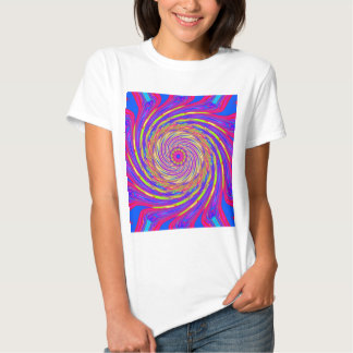 Psychedelic Spiral Pattern: T Shirts