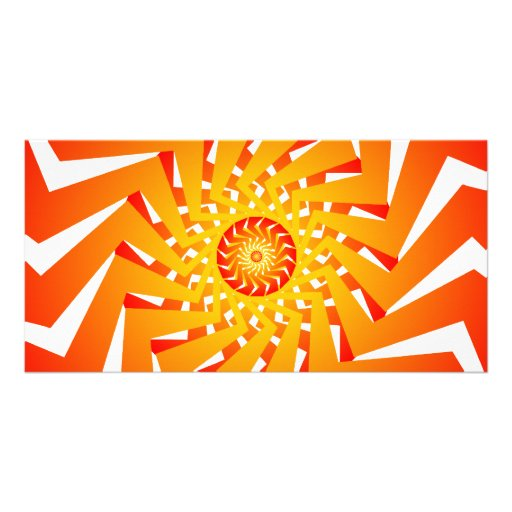 Psychedelic Spiral Pattern: Vector Art: Photo Card Template