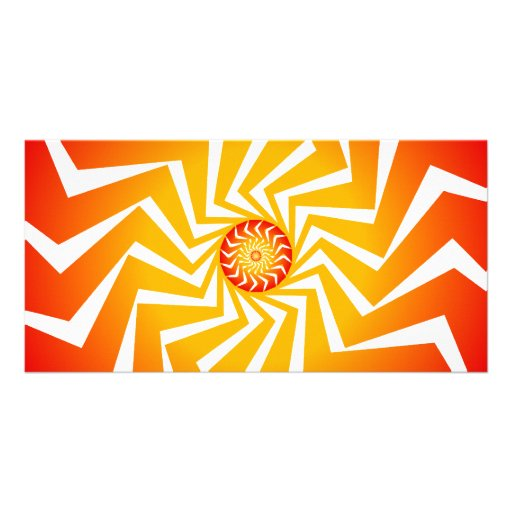 Psychedelic Spiral Pattern: Vector Art: Customized Photo Card
