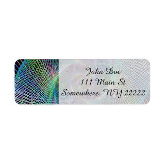 Psychedelic Spiral Return Address Label