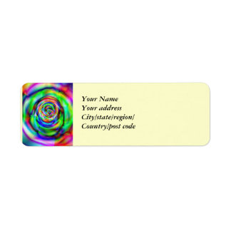 Psychedelic Spiral Rose Return Address Label