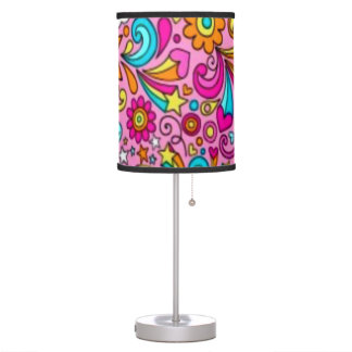 Psychedelic Splash Pattern Table Lamp