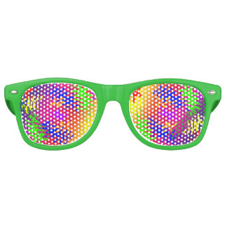 Psychedelic Splodge Adult Wayfarer Party Shades