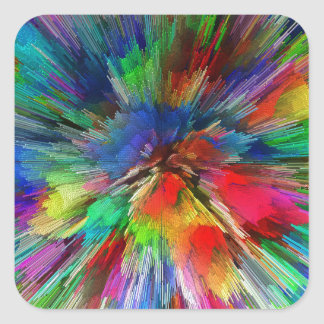 Psychedelic Square Sticker