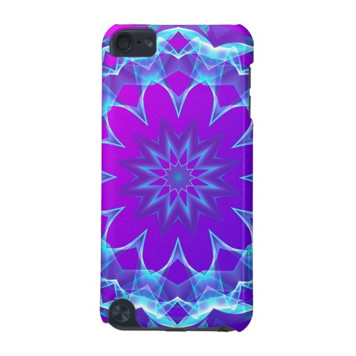 Psychedelic Stars, Abstract Violet Purple Glow iPod Touch 5G Cover