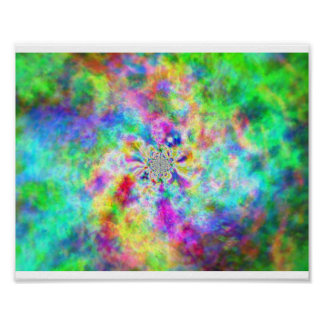 Psychedelic state colors poster