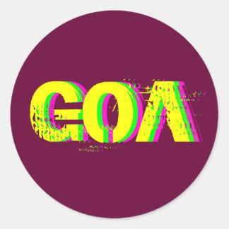 Psychedelic Sticker Goa 2