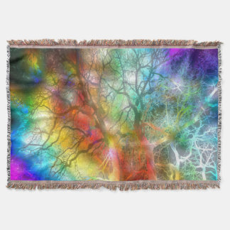 Psychedelic storm throw blanket