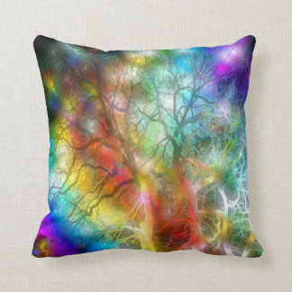 Psychedelic storm throw pillow
