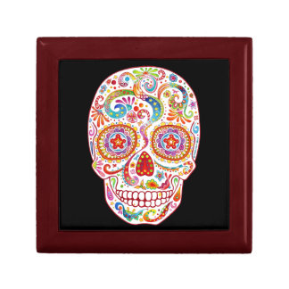 Psychedelic Sugar Skull Gift Box Day of the Dead