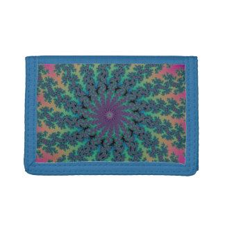 Psychedelic Sun Fractal Design Wallet