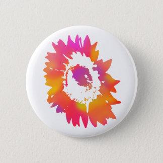 Psychedelic Sunflower 2 Inch Round Button