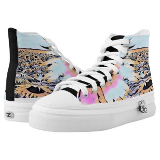 Psychedelic Sunflowers High Tops