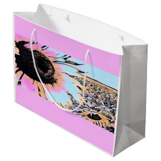 Psychedelic Sunflowers Large Gift Bag