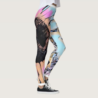 Psychedelic Sunflowers Leggings