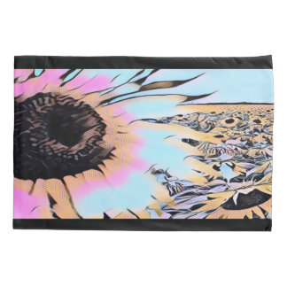 Psychedelic Sunflowers Pillowcase