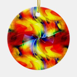 Psychedelic Sunrise Ceramic Ornament