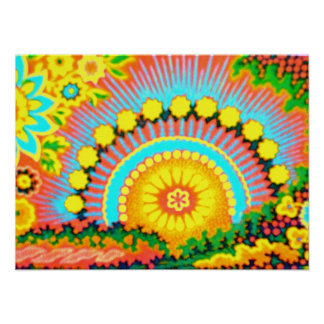 Psychedelic Sunset Vintage 60's Pop Art Poster