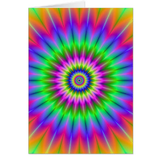 Psychedelic Supernova Card
