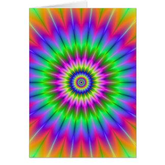 Psychedelic Supernova Card