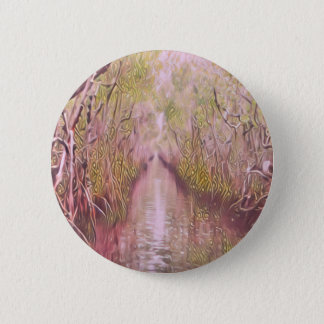 Psychedelic Swamp 2 Inch Round Button