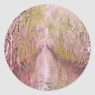 Psychedelic Swamp Classic Round Sticker