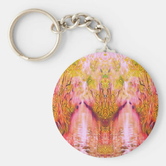 Psychedelic Swamp Keychain