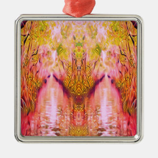 Psychedelic Swamp Metal Ornament