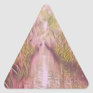 Psychedelic Swamp Triangle Sticker