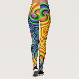 Psychedelic Swirling Colors Leggings