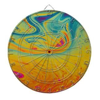 Psychedelic swirls dartboard